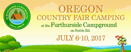 Oregon Country Fair Camping at the Furthurside Family Campground! Logo